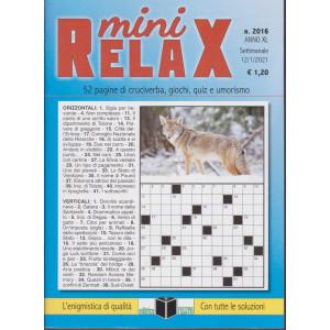 Mini Relax - n. 2016- settimanale - 12/1/2021
