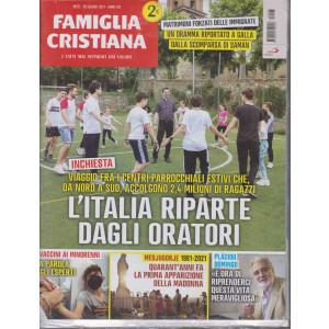 Famiglia Cristiana - n-25 + Il libraio  - settimanale- 20 giugno   2021 - 2 riviste