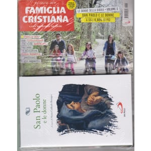 Famiglia Cristiana + il libro San Paolo e le donne-   n. 15- settimanale -11 aprile 2021    - rivista + libro