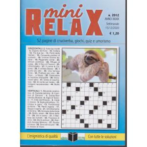 Mini Relax - n. 2012 - settimanale - 15/12/2020 -