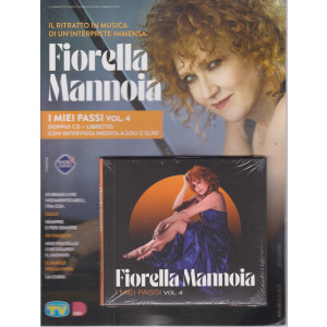 Cd Musicali di Sorrisi - n. 7 -Fiorella Mannoia - 18 maggio 2021 - settimanale - I miei passi - vol. 4 - doppio cd + libretto