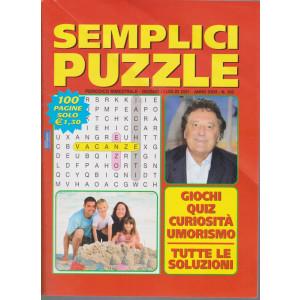 Semplici Puzzle - n. 103 - bimestrale -giugno - luglio  2021 - 100 pagine