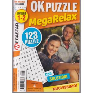 Ok puzzle - MegaRelax - n. 4 -livello 1-2 -  bimestrale -settembre - ottobre 2021