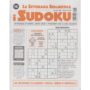 La settimana enigmistica - i sudoku - n. 137 - 4 marzo   2021 - settimanale