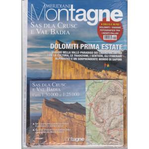 Meridiani Montagne - n. 110 -Sas dla Crusc e Val Badia - bimetrale - maggio 2021 - rivista + Dolomiti - Viaggio fotografico tra i Monti Pallidi - 2 riviste