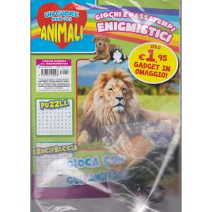Un cuore per gli animali -+ gadget in omaggio! Giochi e passatempi enigmistici - n. 4 - bimestrale - gennaio - febbraio 2021