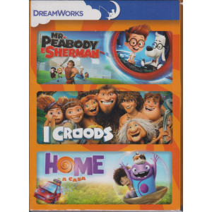 I Dvd di Sorrisi - n. 1  - Mr. Peabody e Sherman - I croods - Home a casa - 3 film - 22/12/2020