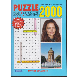 Puzzle 2000 - n. 359 - mensile -marzo 2021 - 100 pagine
