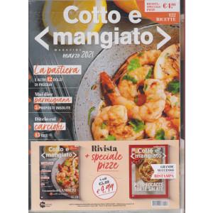 Cotto e mangiato +Cotto e mangiato collection -  Speciale pizze, focacce , torte salate- n. 39 -marzo  2021 - 2 riviste