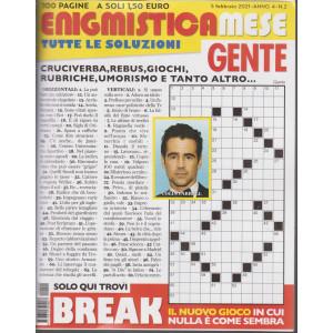 Enigmistica Mese Gente - n. 2 - 5 febbraio  2021 - mensile - 100 pagine