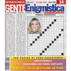 Gente enigmistica - n. 14 - 24 Luglio 2021 - quindicinale - 100 pagine di vero passatempo