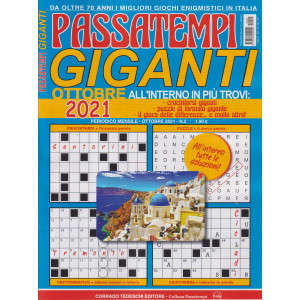Passatempi giganti - n. 2 - ottobre520' 2021 - mensile