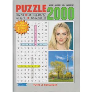 Puzzle 2000 - n. 361 - mensile -maggio   2021 - 100 pagine