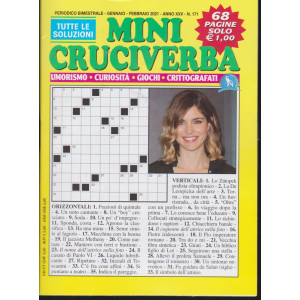 Mini Cruciverba - n. 171 - bimestrale - Gennaio/Febbraio 2021 - 68 pagine