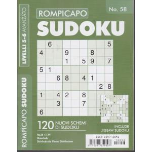 Rompicapo Sudoku - n. 58 - livelli 5-6 avanzato - bimestrale