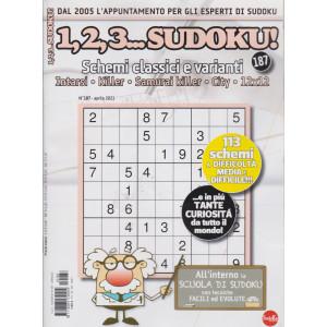1,2,3 Sudoku! - n. 187 - mensile -aprile  2021