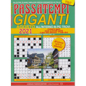 Passatempi giganti - n. 1 - agosto 2021 - mensile