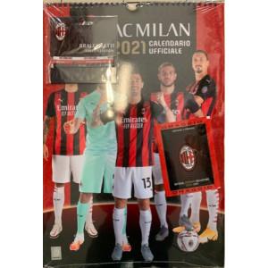Calendario ufficiale AC MILAN 2021  - cm. 29 x 42 con spirale + Braccialetti