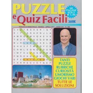 Puzzle e Quiz Facili - n. 280- bimestrale - marzo - aprile 2021 - 68 pagine