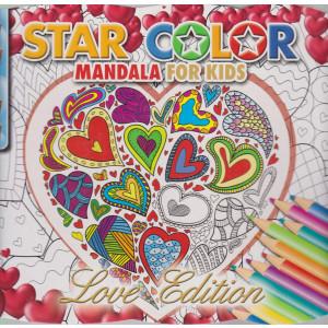 Star color mandala for kids - Love edition - n. 2 - bimestrale - gennaio - febbraio 2021