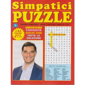 Simpatici  Puzzle - n. 46 - trimestrale - maggio - luglio  2021 - 132 pagine