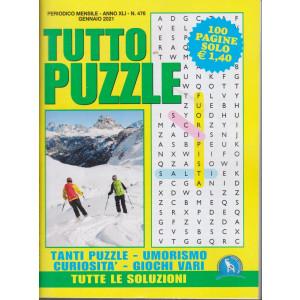 Tutto Puzzle - n. 476 - mensile -gennaio 2021 - 100 pagine