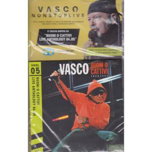 Grandi Raccolte Musicali n. 5  -Vasco nonstoplive - Vasco Rossi - quinta  uscita  - doppio cd  - agosto 2021 -