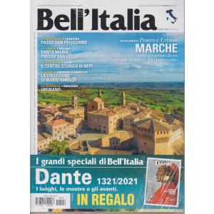 Bell'Italia + I grandi speciali di Bell'Italia - Dante 1321/2021 - in regalo - n. 418 - mensile - febbraio 2021 - 2 riviste