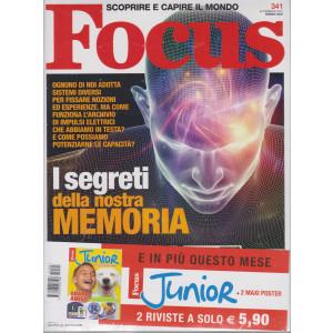 Focus + Focus Junior - n. 341 - marzo 2021 - mensile - 2 riviste