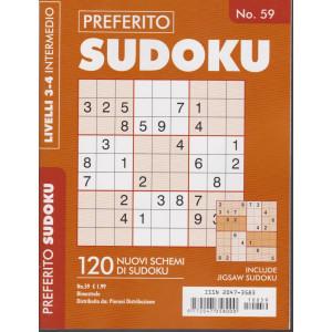 Preferito Sudoku - n. 59 - livelli 3-4 intermedio - bimestrale .