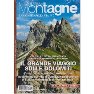 Gli speciali di Meridiani Montagne - Dolomiti - Alta Via n. 2-  + in allegato la cartina -  n. 27 - bimestrale - maggio 2021