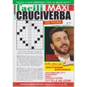 Facili Cruciverba Maxi - n. 14 -maggio - giugno 2021 - bimestrale - 200 pagine