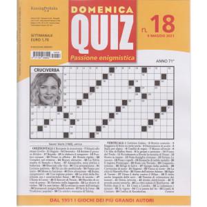 Domenica Quiz - n. 18- settimanale -6 maggio  2021