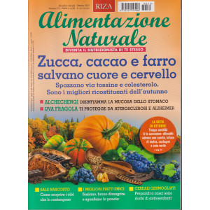 Alimentazione naturale - Zucca, cacao e farro salvano cuore e cervello-  n. 72  - mensile -ottobre2021