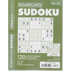 Rompicapo Sudoku - n.60 - livelli 5-6 avanzato - bimestrale