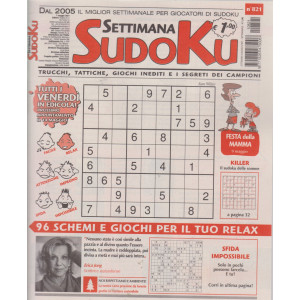 Settimana Sudoku - n. 821- settimanale -7 maggio  2021