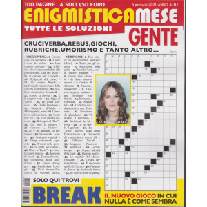 Enigmistica Mese Gente - n. 1 - 5 gennaio 2021 - mensile - 100 pagine