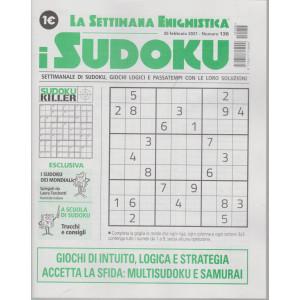 La settimana enigmistica - i sudoku - n. 136 - 25 febbraio  2021 - settimanale
