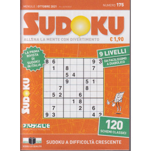 Sudoku - n. 175 - mensile - ottobre  2021