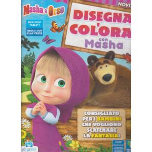 Masha e Orso - Disegna e colora con Masha - n. 1 - febbraio - marzo 2021 - bimestrale