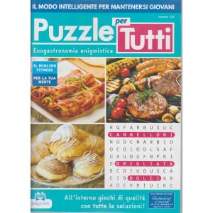 Puzzle per tutti - n. 112 - Enogastronomia enigmistica - bimestrale - 7/1/2021