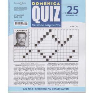 Domenica Quiz - n. 25- settimanale -24 giugno  2021