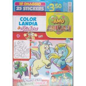 Color landia & stickers - Io amo gli animali - n. 2 - marzo - aprile 2021 - bimestrale