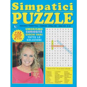 Simpatici  Puzzle - n. 45 - trimestrale - febbraio - aprile 2021 - 132 pagine