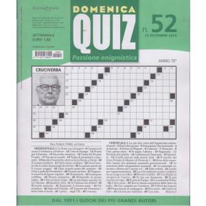 Domenica Quiz - n. 52- settimanale - 23  dicembre 2020