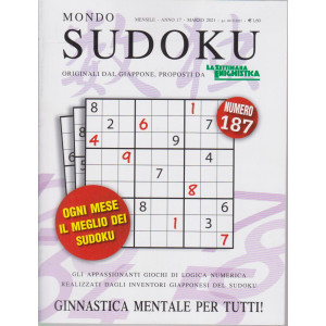 Mondo Sudoku - n. 187 - mensile - marzo 2021