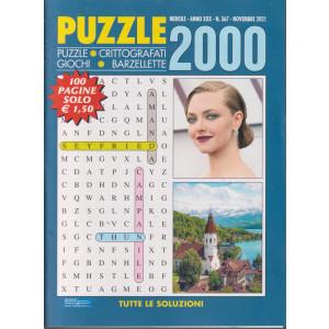 Puzzle 2000 - n. 367 - mensile  -novembre  2021 - 100 pagine