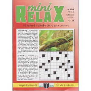 Mini Relax - n. 2019- settimanale - 2/2/2021
