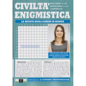 Civilta' Enigmistica - n. 435 - quindicinale -5 gennaio 2021
