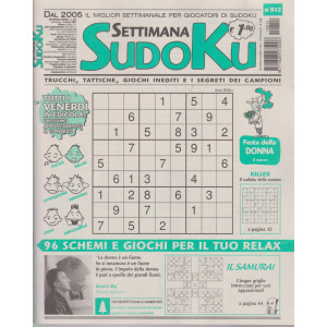 Settimana Sudoku - n. 812- settimanale -5 marzo  2021